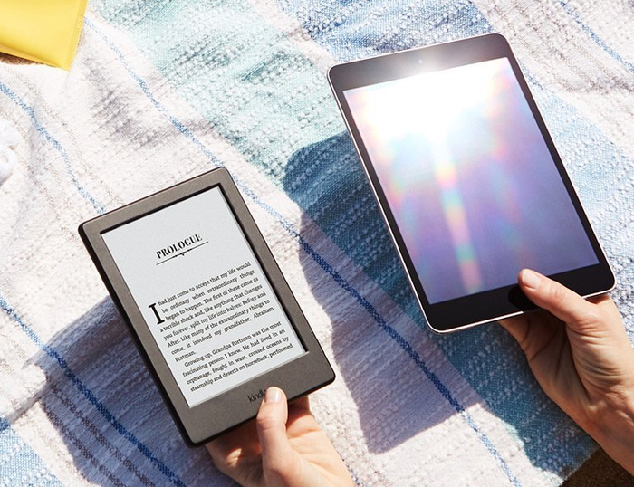 Get the Kindle here and the Kindle Voyage here.