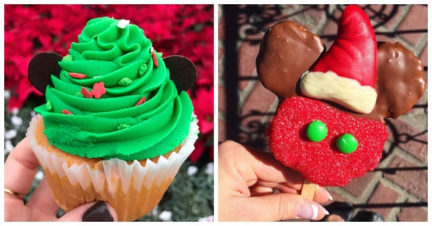 The Candy Palace on Main Street, for example, dishes out Christmas tree cupcakes and Mickey krispy treats.