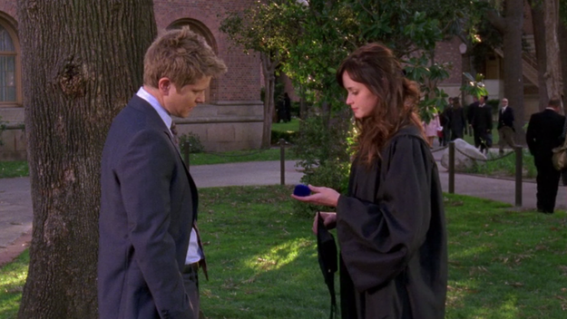 And afterwards, Rory turns down Logan's proposal.