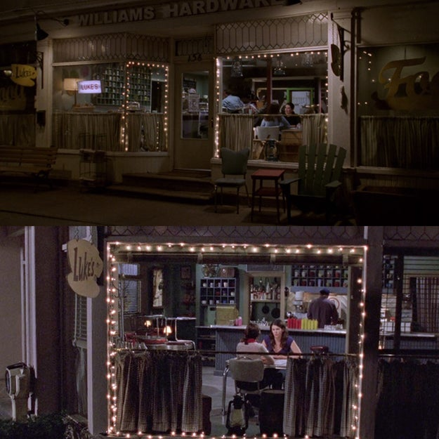 Finally, the last episode of Gilmore Girls ends the exact same way the first episode did — with a shot of Lorelai and Rory sitting in Luke's Diner.