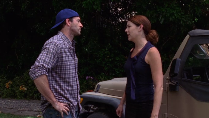 In the Season 6 finale, Lorelai gave Luke an ultimatum and set a date for them to get married. When he refused to comply, she slept with Christopher.