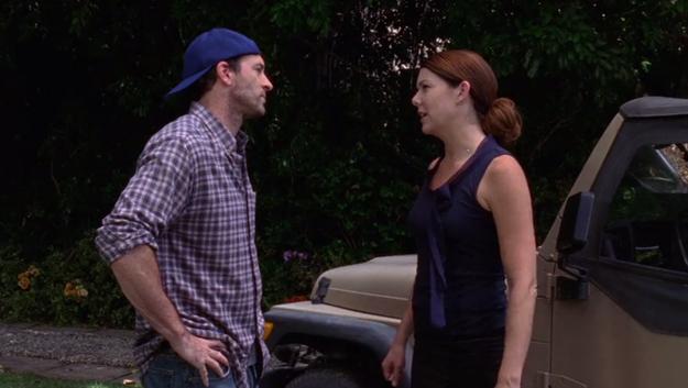 In the final season premiere of Gilmore Girls, Luke and Lorelai break up.