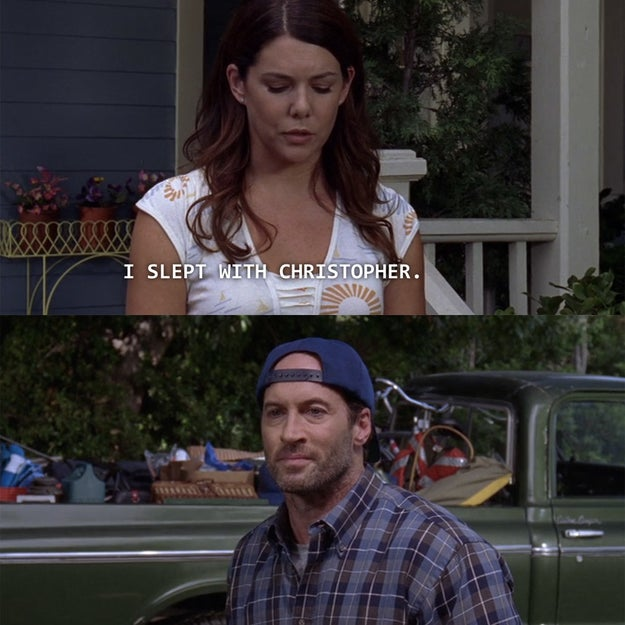 Luke fights to get Lorelai back, but she tells him about Christopher. That's when they're ~seemingly~ done for good.