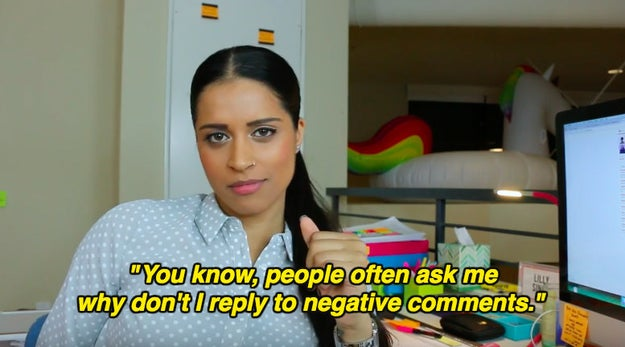 "Lilly ""Superwoman"" Singh just admitted why she doesn't address negative comments, in a video titled ""How to Make a Sandwich""."