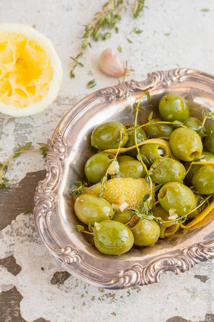 Another great snack for parties are these marinated olives that are packed full of flavour. They take just five minutes to make, and they'll keep in the fridge until you want to serve them.Get the recipe here.