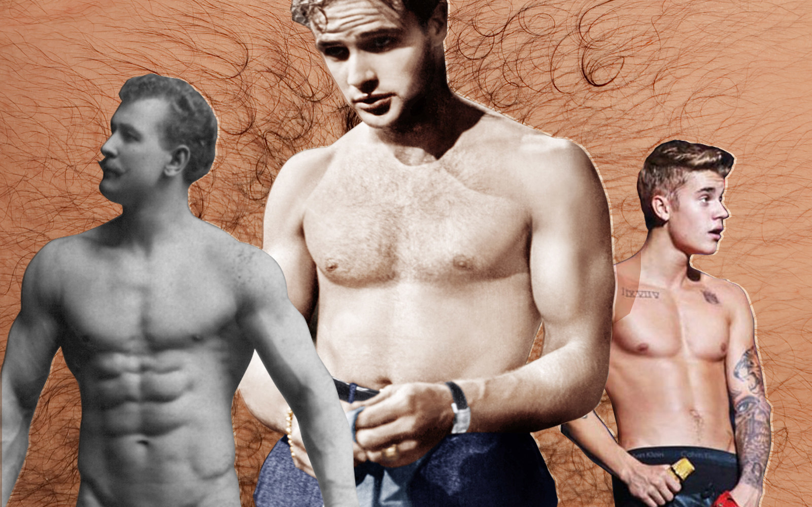 One Hundred Years Of Men Taking Off Their Shirts-7426