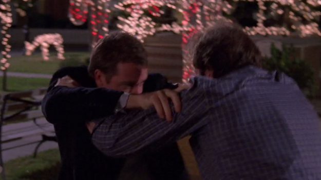 In the middle of all the emotional chaos, Christopher and Luke end up getting into a fight in the middle of the Stars Hollow gazebo.