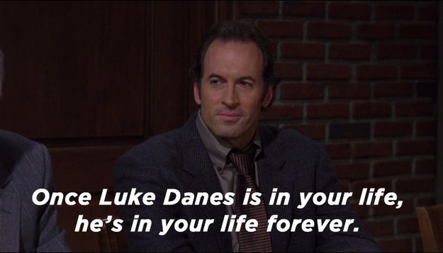 Meanwhile, in order to help gain custody of April, Luke asks Lorelai to write a character reference for him. It's emotional, to say the least.