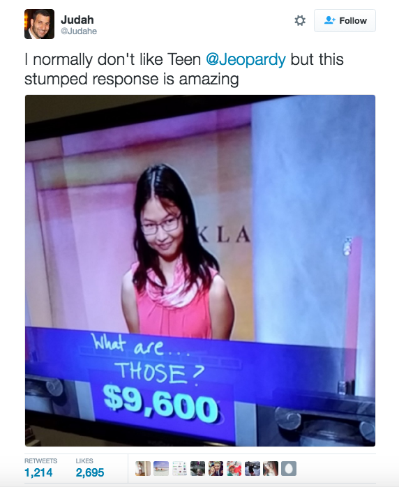 ICYMI, Jeopardy!'s Teen Tournament has been going on for the past two weeks, and it's been filled with highlights.