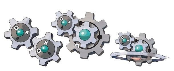 These Pokémon are called Klink, Klang and Klinklang. Let that soak in for a sec.