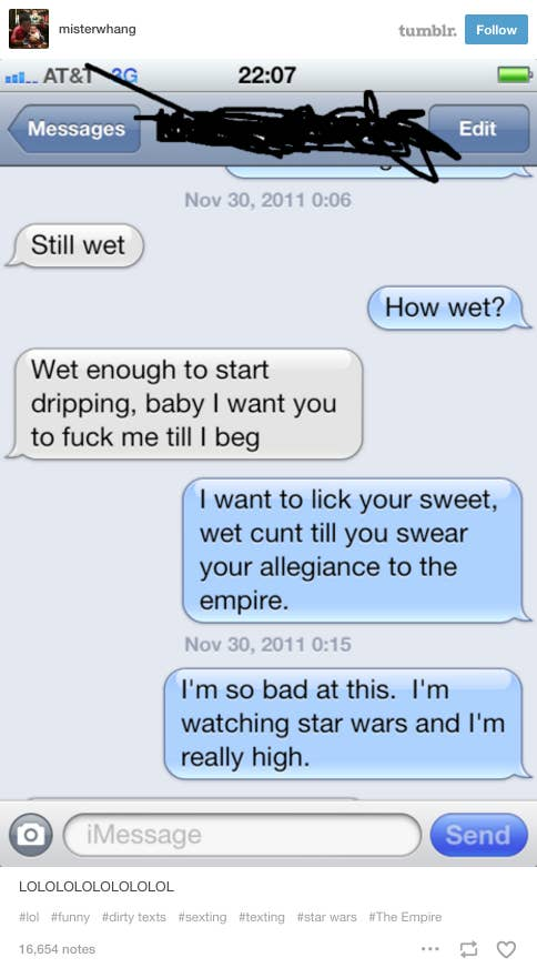 What's The Cringiest Sext You've Ever Received?