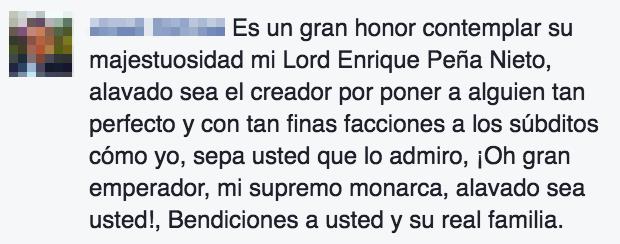 """Algunos usuarios lo llaman, como ya es costumbre, """"Lord Enrique Peña Nieto."""""""