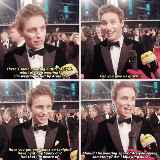 When we asked him some red carpet questions usually reserved for women, and he totally took them in his stride.