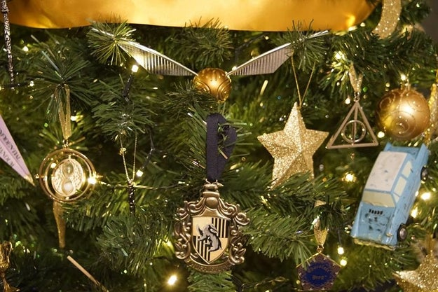 """This is the second year I've done the tree, but this year I added more,"" Burnett, a huge Harry Potter fan (and a proud Slytherin), told BuzzFeed."