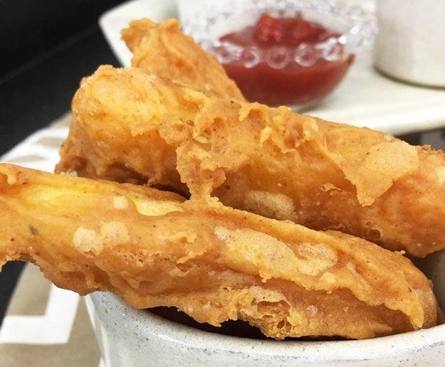 Super Crispy French Fries with Garlic Cream