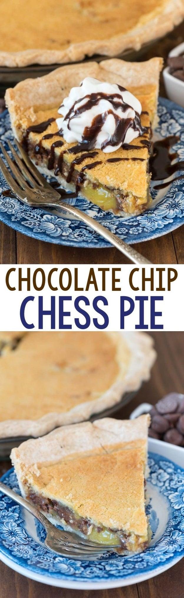 Chocolate Chip Chess Pie