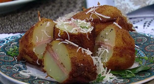 Ham and Cheese Stuffed Fries