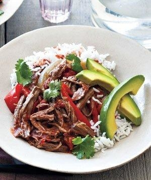 Slow Cooker Cuban Braised Beef and Peppers