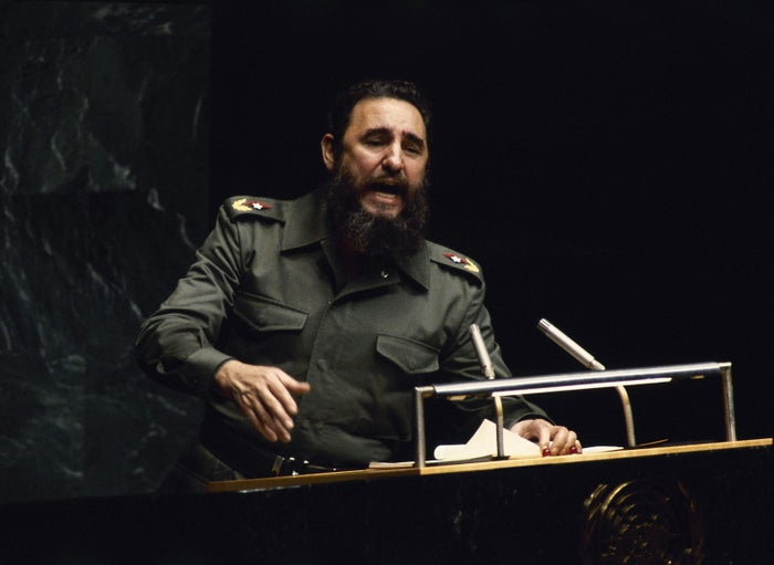Castro at the UN General Assembly in 1979.