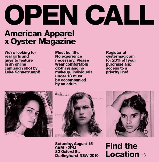 Being told you look like an AA model is the BIGGEST. COMPLIMENT. EVER – and you've even thought of auditioning for the store's open call.