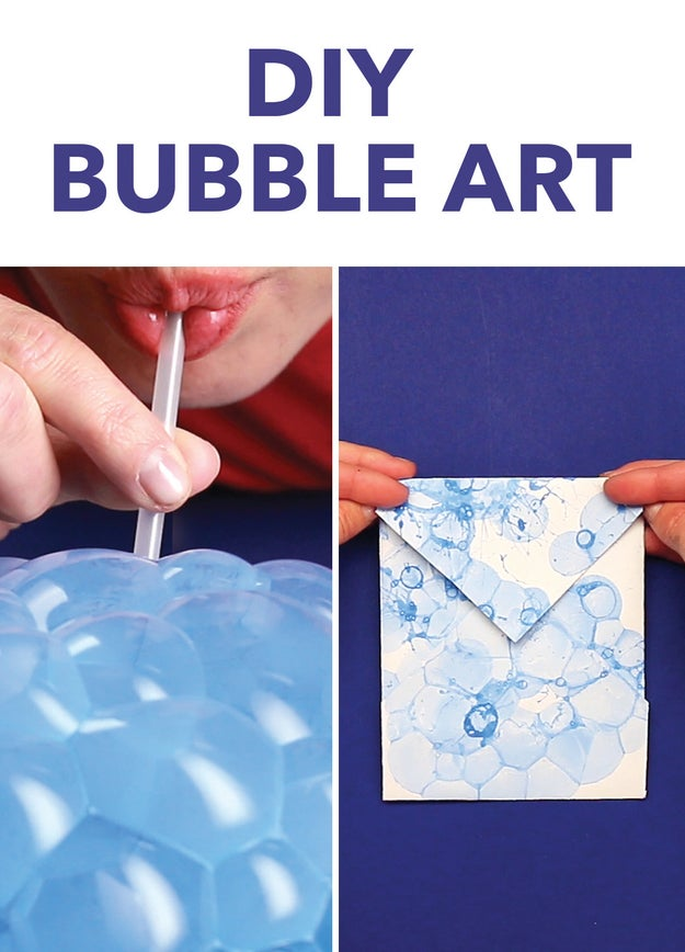 This diy bubble art is perfect for holiday gifts for How to make bubbles liquid at home
