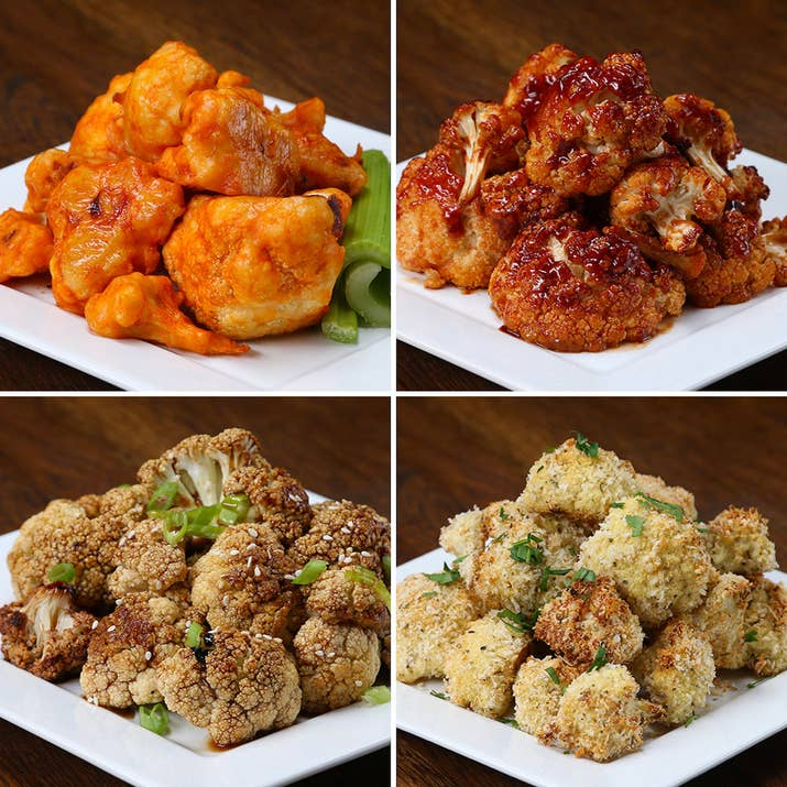 You wont even realize youre eating veggies with these baked cauliflower bites 4 ways each recipe serves 4 forumfinder Choice Image