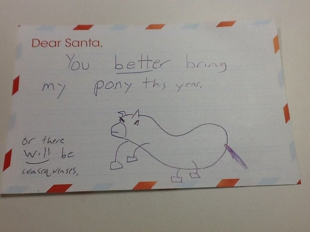 Writing letters to Santa is a delightful Christmas tradition. But sometimes, those warm and fuzzy letters aren't quite so warm and fuzzy.