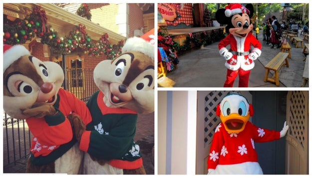 The characters dress up to spread holiday cheer.