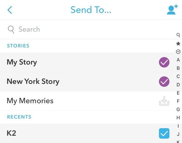 Publier un snap sur votre story et également l'envoyer à vos followers.