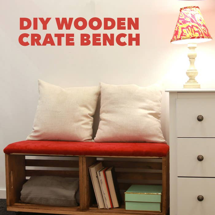 Upcycle Old Crates Into A Storage Savvy Bench