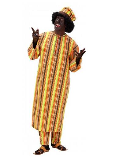 Un «déguisement africain homme» (à 50,99€!!), décrit comme «idéal pour [vos] soirées créoles ou africaines».