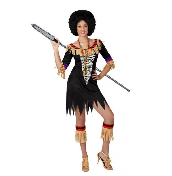 Un «déguisement Africaine Miss Zoulou».