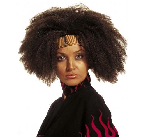Une «perruque africaine marron», «idéale pour agrémenter [vos] costumes à connotation africaine lors de vos soirées déguisées».