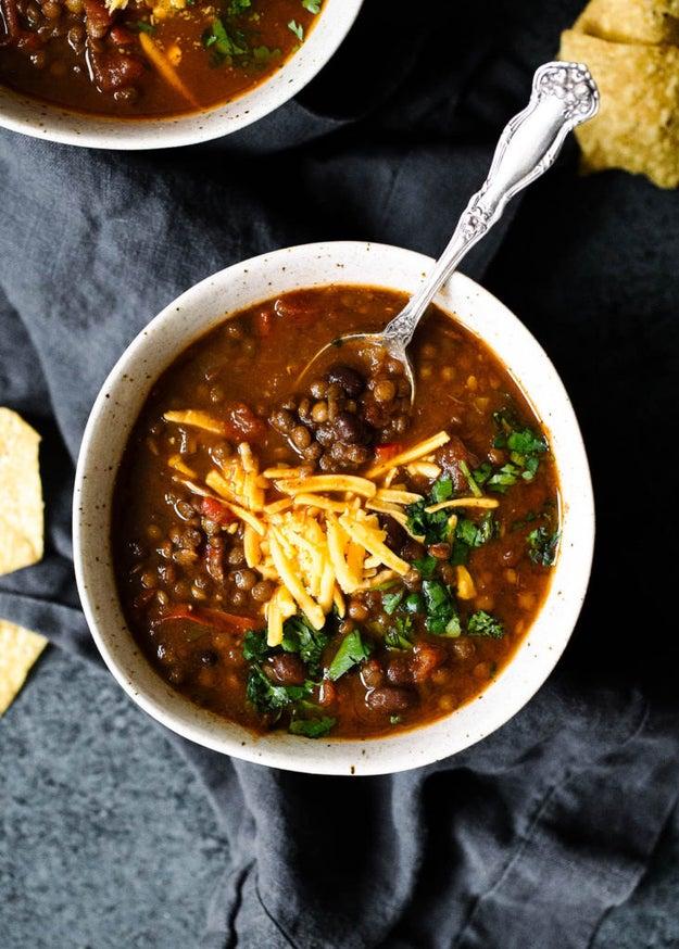 Slow Cooker Taco Lentil Soup