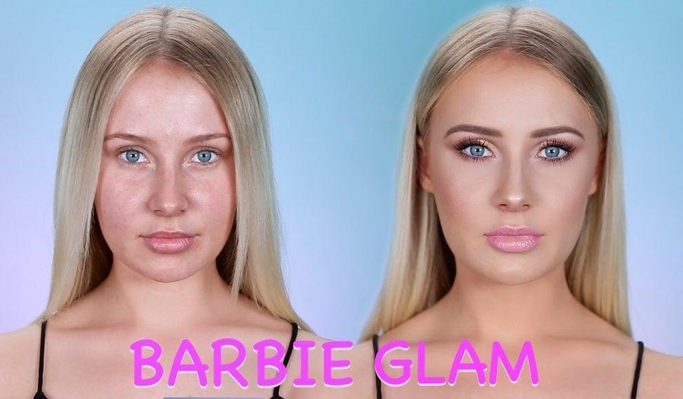 Por ejemplo, esta chica se transformó en una Barbie Glam, que no sabemos muy bien qué significa pero da igual... porque se ve bien.