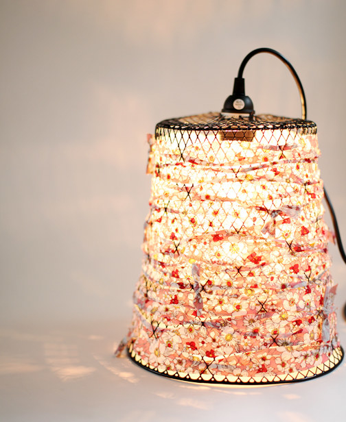 Craft a hipster-approved pendant light from an old wastebasket.