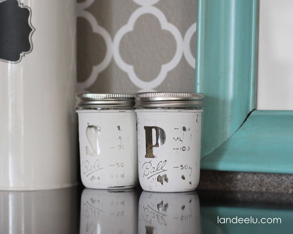 Save your jars to create a set of salt and pepper shakers.