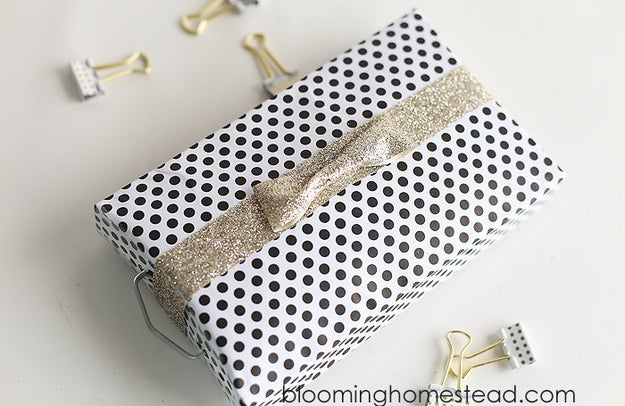 Upcycle all your packaging as gift boxes!