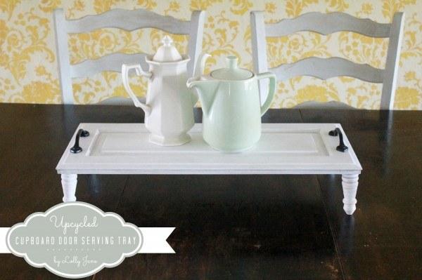 Transform a cupboard into a serving tray!