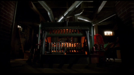 The scary furnace in the basement was actually just the work of two guys with strings and flashlights.