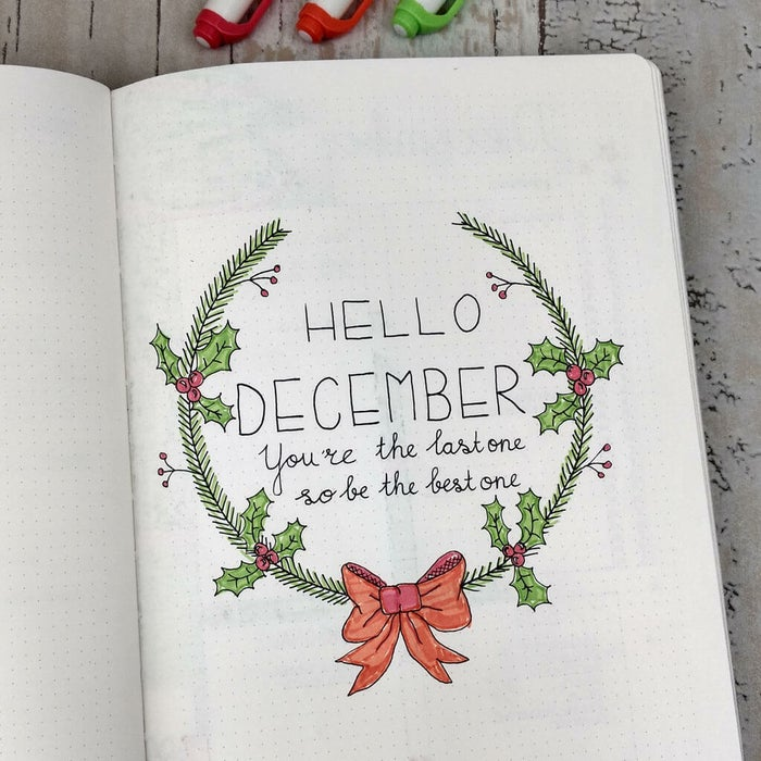 If you don't know what a bullet journal is, check out this post as a primer. Or don't — these ideas are fun even if you don't know a thing about bullet journaling but are into journaling/scrapbooking/elaborate to-do lists. There are a couple different ways you can turn your bullet journal into a holiday spectacular. The easiest way is to just add any of these spreads to your regular bujo (especially the ones that are clearly for your eyes only). But if you wanted to make something more akin to a a Christmas scrapbook that any family member could flip through without accidentally seeing what you're getting for them for Christmas, you could also set up a dedicated bullet journal that's just for the holidays. Onto the ideas!