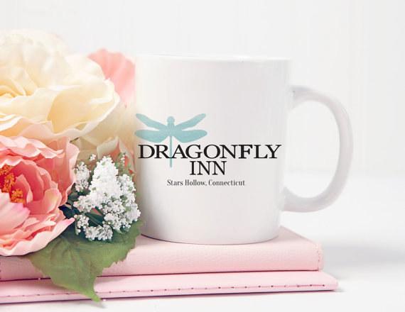 A Dragonfly Inn souvenir mug: