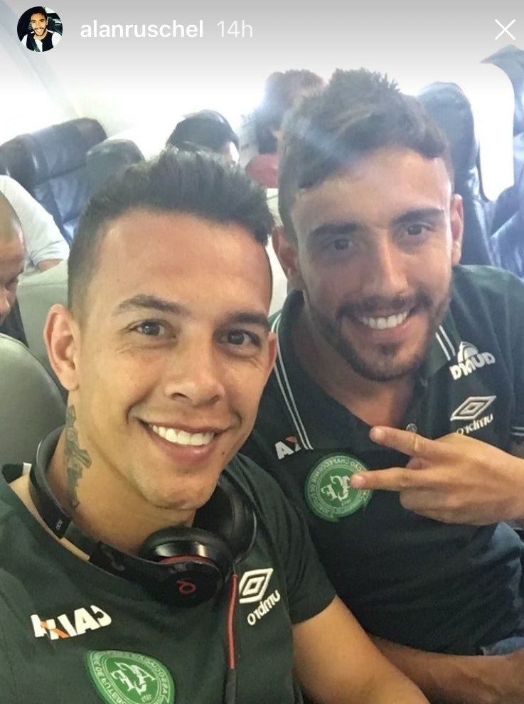 Ruschel, with teammate Danilo, (left) in a picture posted to his Instagram account before the crash.