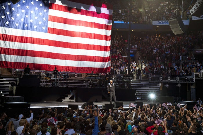 Jay Z performs at a 2012 rally for President Obama in Columbus, Ohio.