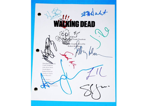 A reprint of a signed episode script so you can act out your favorite scene.