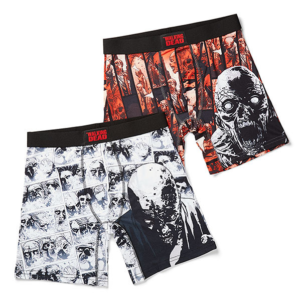 A pair of zombie-themed boxer briefs.
