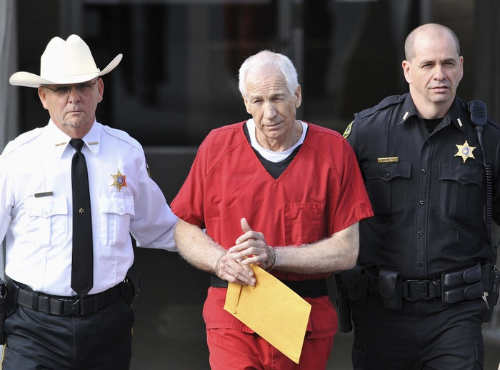Former Penn State assistant football coach Jerry Sandusky after his 2012 conviction of child sex abuse charges.
