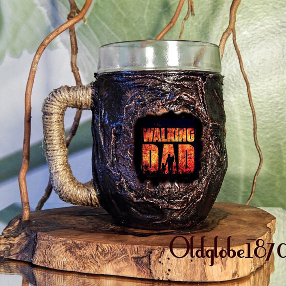 A beer mug for your zombie-obsessed dad.