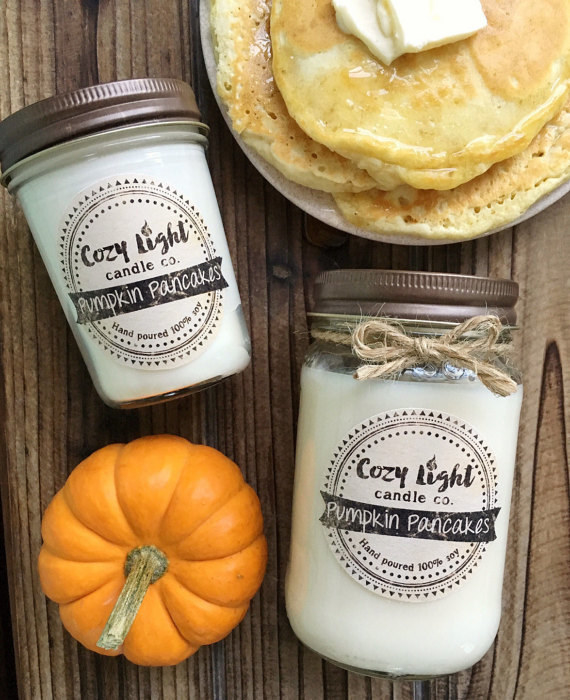 This candle that'll fill their fall and pancake needs with just one match.