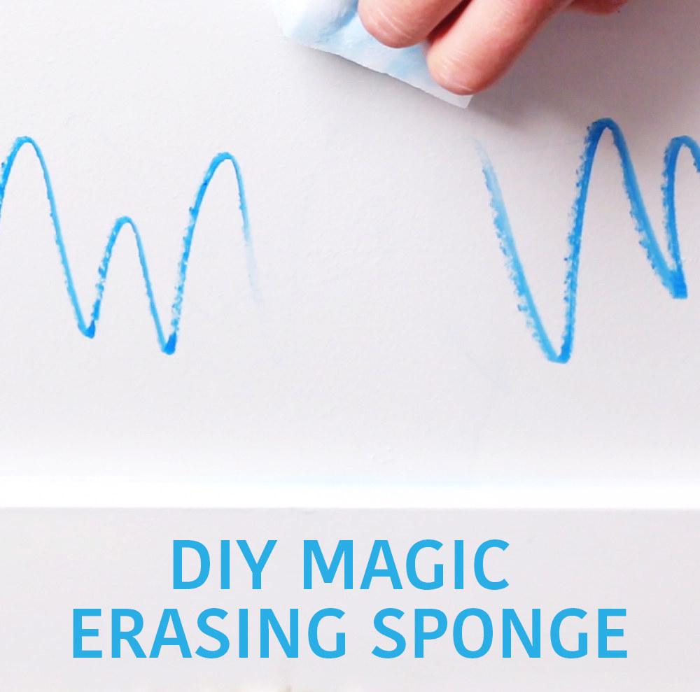This DIY Magic Erasing Sponge Is A Cleaning Hero